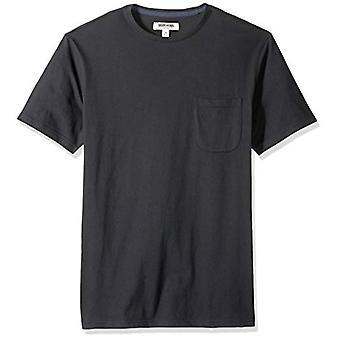 Goodthreads Men's Short-Sleeve Sueded Jersey Crewneck Pocket T-Shirt, Black, XXX-Large