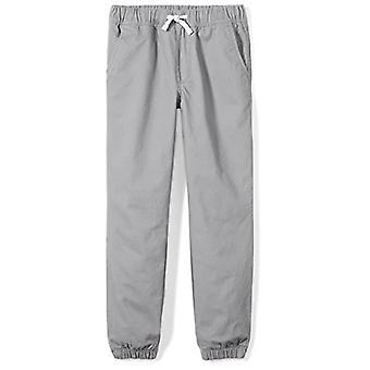 Marca - Cebra manchada Big Boys' Pantalones Jogger tejidos, Gris, Grande (10)