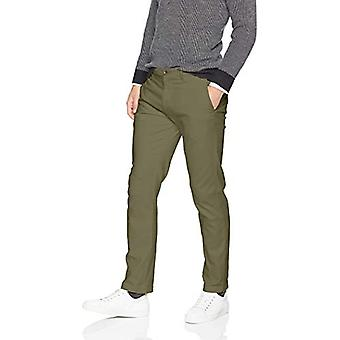 Essentials Men's Slim-Fit Casual Stretch Kaki, Măsline, 38W x 32L