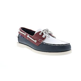 Sebago Portland Spinnaker Mens Blue Leather Loafers & Slip Ons Boat Shoes