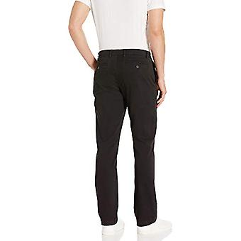 Brand - Goodthreads Men's Straight-Fit Washed Comfort Stretch Chino Pant, Black, 36W x 29L