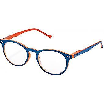 Lesebrille Unisex Libri_x  Bicolor orange / blau Stärke +2,5