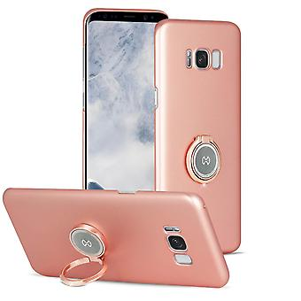 Case with ring stand for Samsung Galaxy S8 Plus Kickstand Bling-Etui Plastic Pink