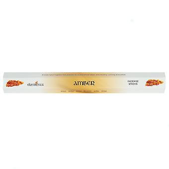 Bâtons d'encens ambre éléments (boîte de 6 paquets)