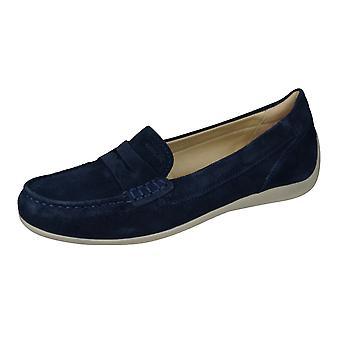 Geox D Yuki B Damen Leder Loafer / Schuhe - Marine