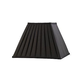 30 Cm Square Pleated Lampshade Black