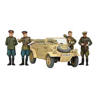 Tamiya 25153 WOII Russische commandanten en personeel Auto Set 1:35 Schaal Model Kit