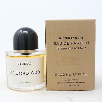 Accord Oud par Byredo Eau De Parfum 3.4oz/100ml Spray Tester With Box
