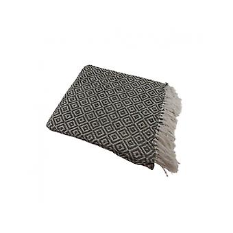 Deco4yourhome Cotton Plaid Taupe/white