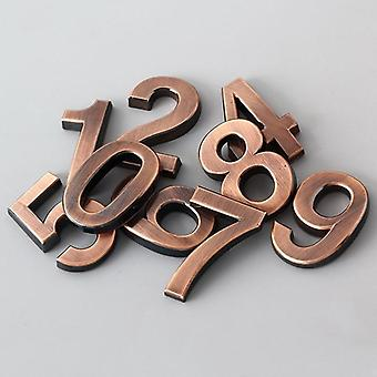 0-9 Modern 3d Hotel Apartment Door Number - Plastic Golden Bronze Name Plate