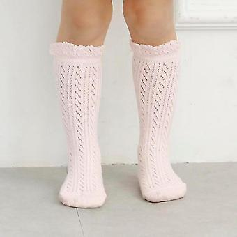 Newborn Baby Girl Socks Cotton Knee High Socks