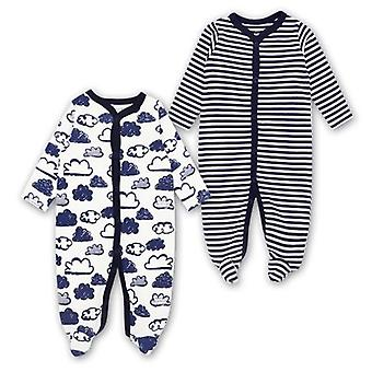 Newborn Baby Clothes,  Footed Pajamas With Long Sleeve