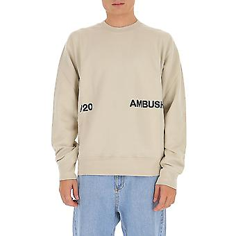 Ambush Bmba005f20fle0016110 Men's Beige Cotton Sweatshirt