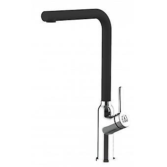 Kitchen Single-lever Sink Mixer With High Swivel Spout - Black Quartz - 537