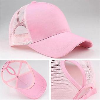 Women Baseball Cap-adjustable Ponytail Summer Mesh Hat