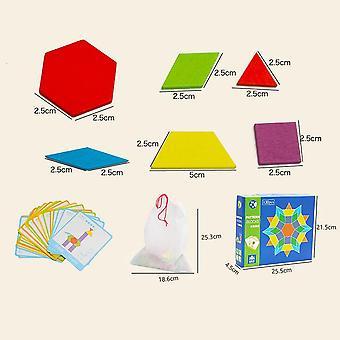 خشبية، شكل هندسي، كتل نمط لتطوير Iq الأطفال