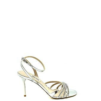 Miu Miu Ezbc057029 Women's Silver Leather Sandals