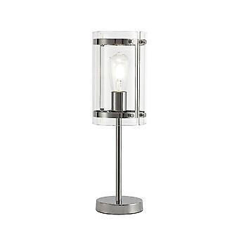 Lily Table Lamp, 1 Light E27, Polished Chrome