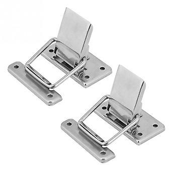 2pcsステンレス鋼キャビネットケーススプリングロードラッチキャッチ家具ハードウェア