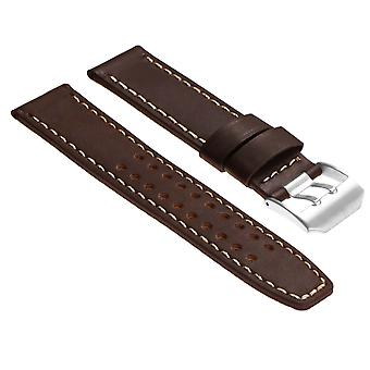 Strapsco داساري 23mm حزام ساعة جلدية لومينيكس إيفو