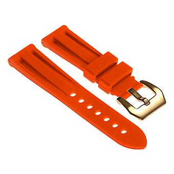 Strapsco silicone-watch-strap-with-yellow-gold-pre-v-buckle