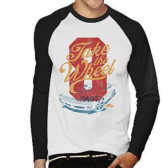 Fast and Furious 8 Take The Wheel Men's Baseball Long Sleeved T-Shirt