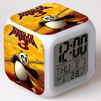 Färgglada multifunktionella LED Barn' s väckarklocka -Kung Fu Panda7 #5