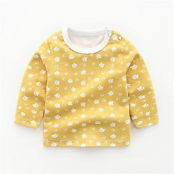 Sweatshirts de bébé d'automne Coton Cartoon Animal Print Infants Haut à manches longues