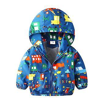 Boys Outerwear Clothe, Autumn Kid Jacket Hooded Coat, Spring