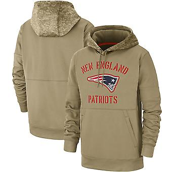 Men's New England Patriots Slant Strike Tri-Blend Raglan Pullover Huppari Top WYG045