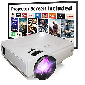 Home theater projector 6000 Lumens Video Projector Compatible with TV Stick PS4 HDMI USB AV