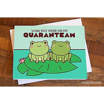 Miss You Quarantine Frogs Card Wish You Were On My Quaranteam