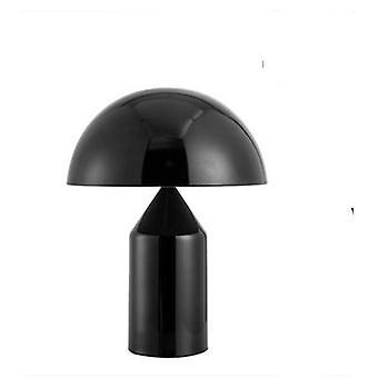 Lâmpada de mesa de cogumelo metálico moderno