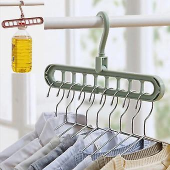 9 otvorů skládací oblečení věšáky pro sušárnu oblečení multifunkční oblečení Rack Skříň Organizér prostorově úspora oblečení rack