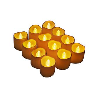 12pcs Flameless Candles with LED Tealight  Wedding Festival Party (Warm Yellow)