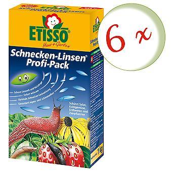 Sparset: 6 x FRUNOL DELICIA® Etisso® Schnecken-Linsen Power-Pack, 1 kg