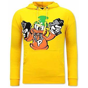 Gangster Duck Hoodies - Geel