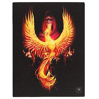 Anne Stokes Phoenix Rising Canvas Plaque