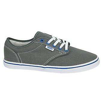 Vans Atwood Low Canvas Lace Up Grey Blue Womens Trainers Plimsolls NJO5RO U124