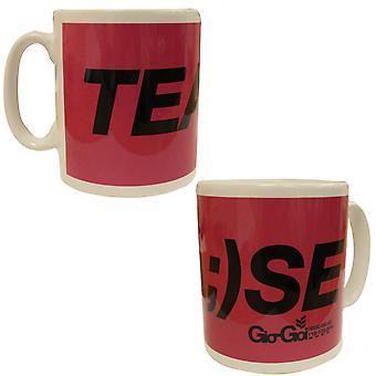 Gio Goi Novelty Mug Funny Gift Tease Cup Pink PA1 TEASMUG A53E