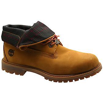 Timberland AF auténtico roll top botas de cuero de trigo encaje hasta 3721R B6B