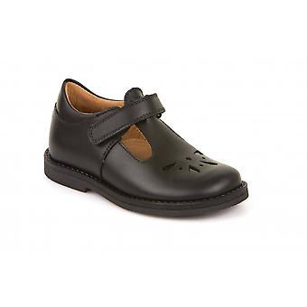 FRODDO Tbar Velcro School Shoe Black