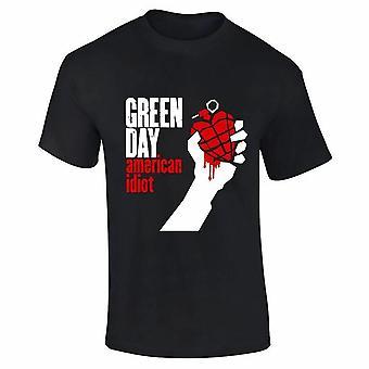 Green Day Unisex Adults American Idiot Print T-Shirt