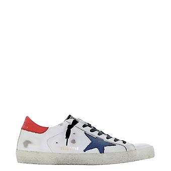 Golden Goose Gmf00101f00034810281 Men's White Leather Sneakers