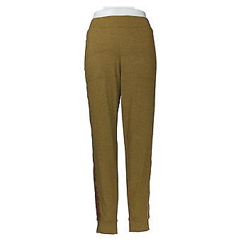 LOGO By Lori Goldstein Women's Pants Terry Jogger W/ Stripe Brown A368797