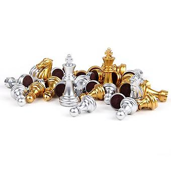 Medieval Chess Set With High Quality Chessboard Gold Silver Chess Pieces
