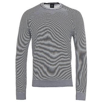 Armani Exchange Stripe Sweater - Black & White