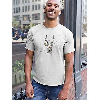 Geometrischen Print Gazelle T-Shirt Herren-Bild von Shutterstock