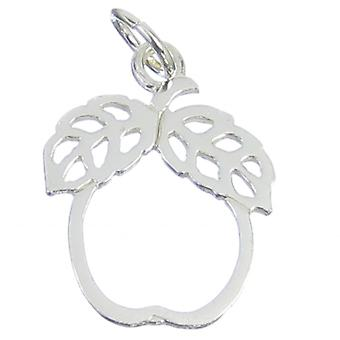 Apple Sterling Silver Charm .925 X 1 Fruits Apples Fruit Charms - 202