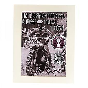 Larrini Mcqueen International 6 Day Trial A4 Mounted Photo